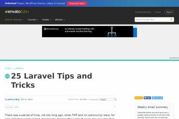 25 Laravel Tips And Tricks