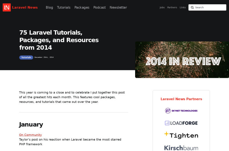 75 Laravel Tutorials, Packages, And Resources From 2014