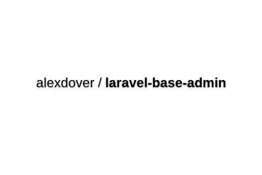 Base Laravel Admin