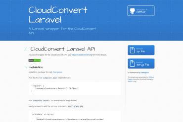 CloudConvert Laravel API