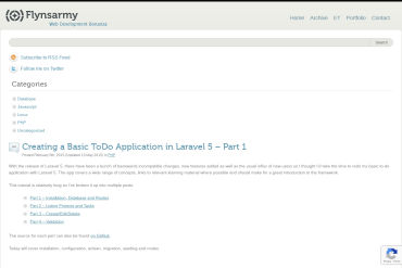 Creating A Basic To Do Application In Laravel 5