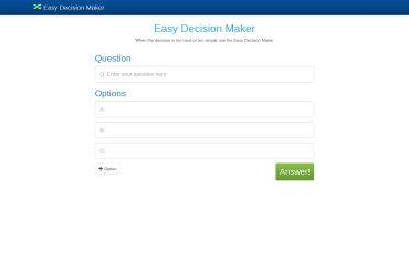 Easy Decision Maker