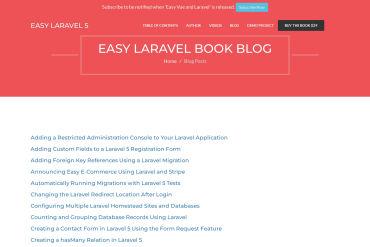 Easy Laravel Book Blog