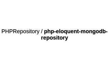 Eloquent MongoDB Repository