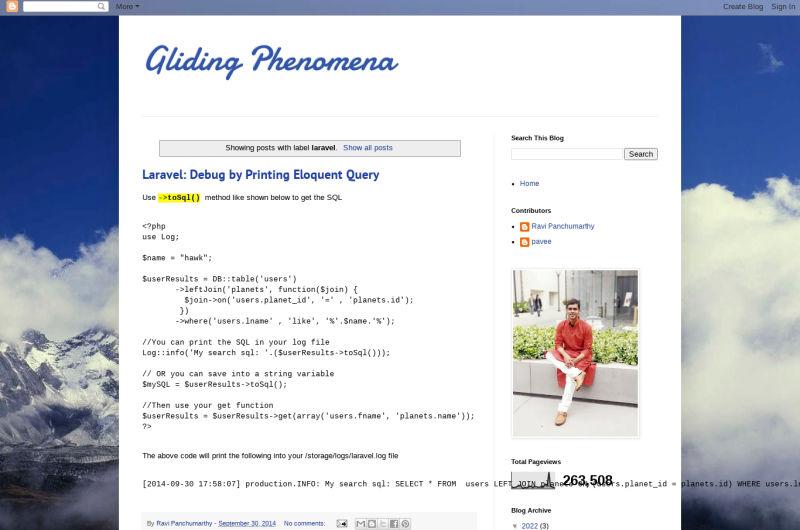 Gliding Phenomena (Ravi Panchumarthy)