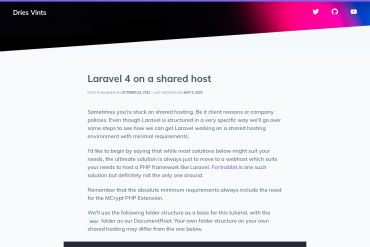 Laravel 4 On A Shared Host