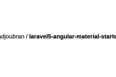Laravel 5 Angular Material Starter
