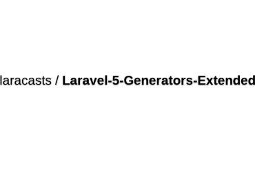 Laravel 5 Extended Generators