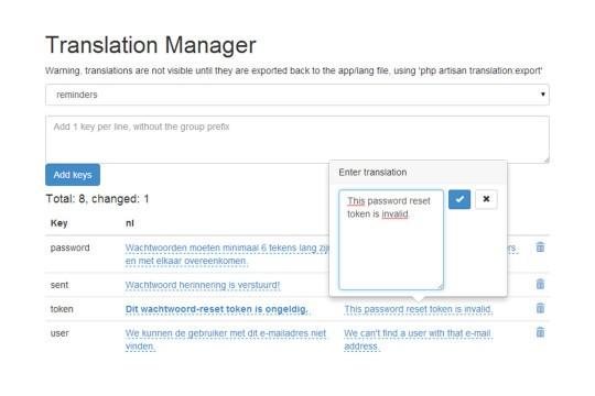 Laravel 5 Translation Manager