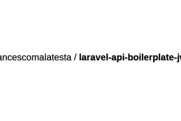 Laravel API Boilerplate (JWT Edition)