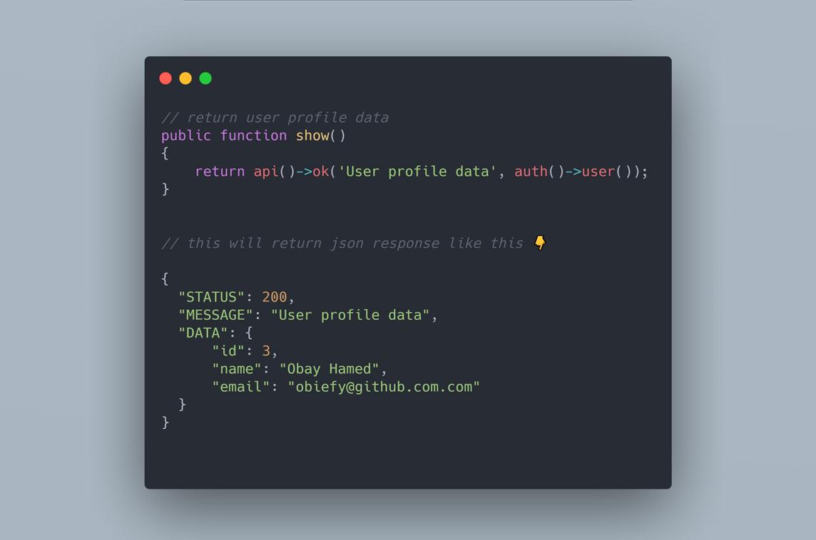 Laravel API Response