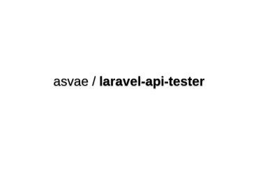 Laravel API Tester