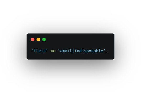 Laravel Disposable Email