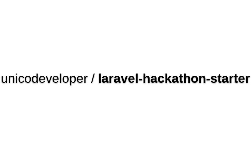 Laravel Hackathon Starter