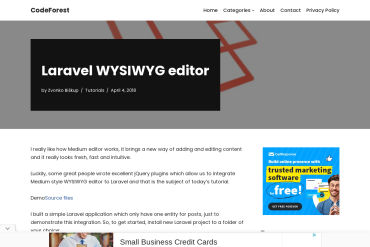 Laravel Medium Editor