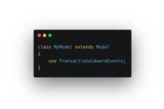 Laravel Transactional Model Events