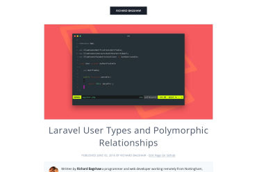 Laravel User Types And Polymorphic Relationships
