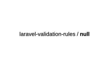 Laravel Validation Rules