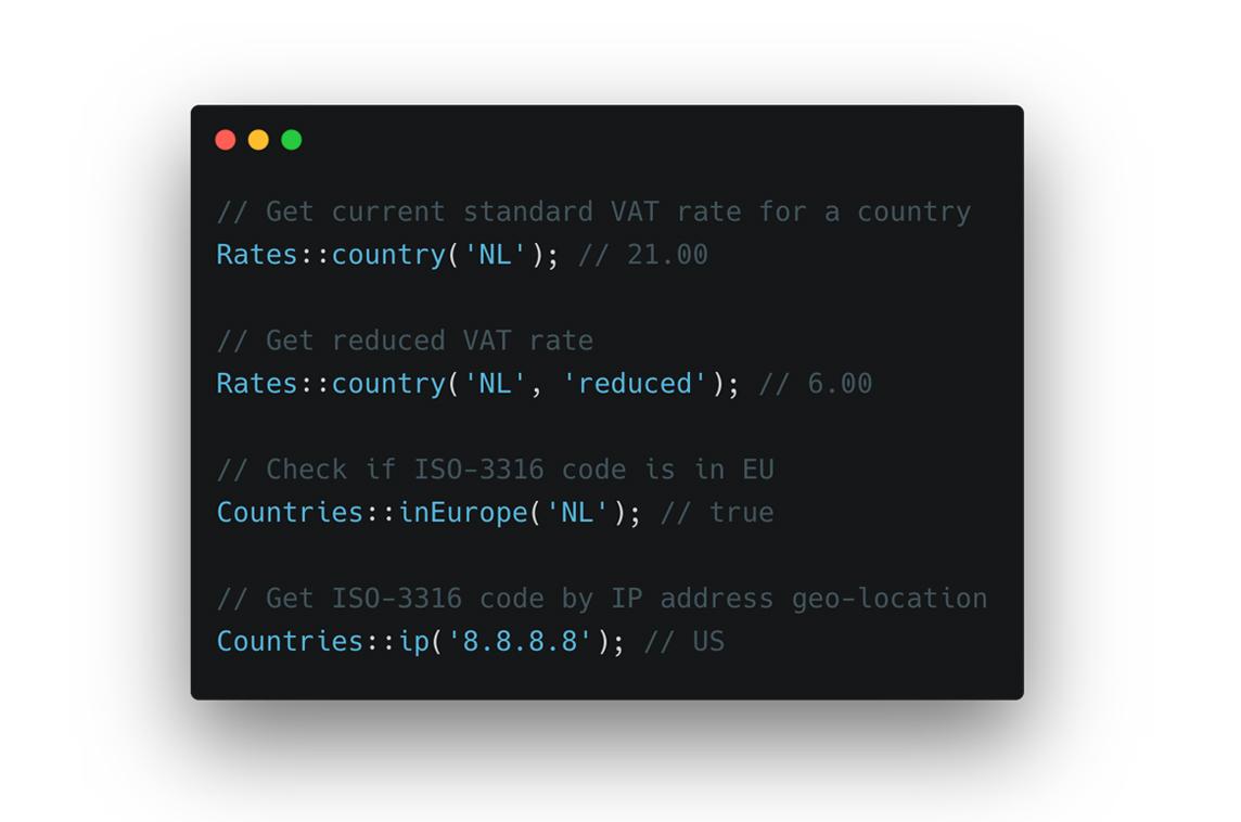 Laravel VAT