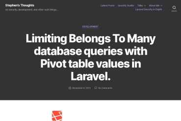 Limiting 'Belongs To Many' Database Queries With Pivot Table Values