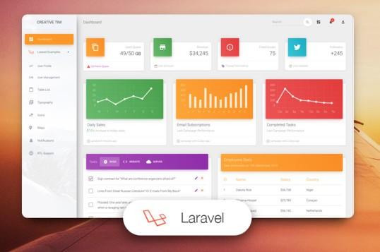 Material Dashboard Laravel