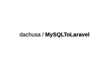 MySQL To Laravel