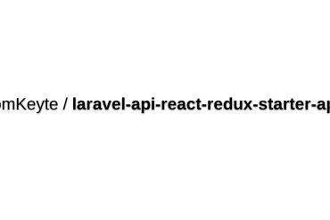 React/Laravel API Starter Application