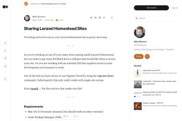 Sharing Laravel Homestead Sites