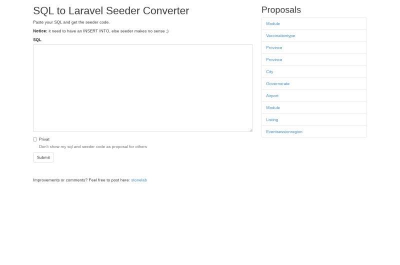 SQL To Laravel Seeder Converter