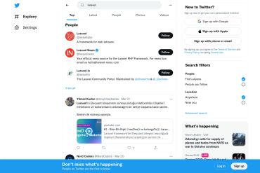 Twitter Laravel Resources