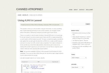 Using AJAX In Laravel