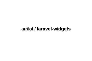 Widgets For Laravel