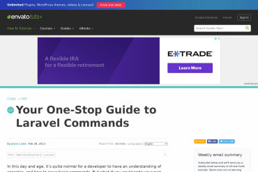 Your One-Stop Guide To ~~Laravel~~ Artisan Commands
