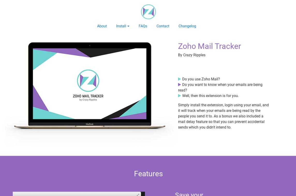 Zoho Mail Tracker