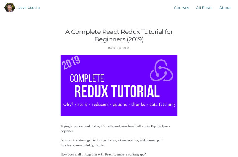A Complete React Redux Tutorial For Beginners