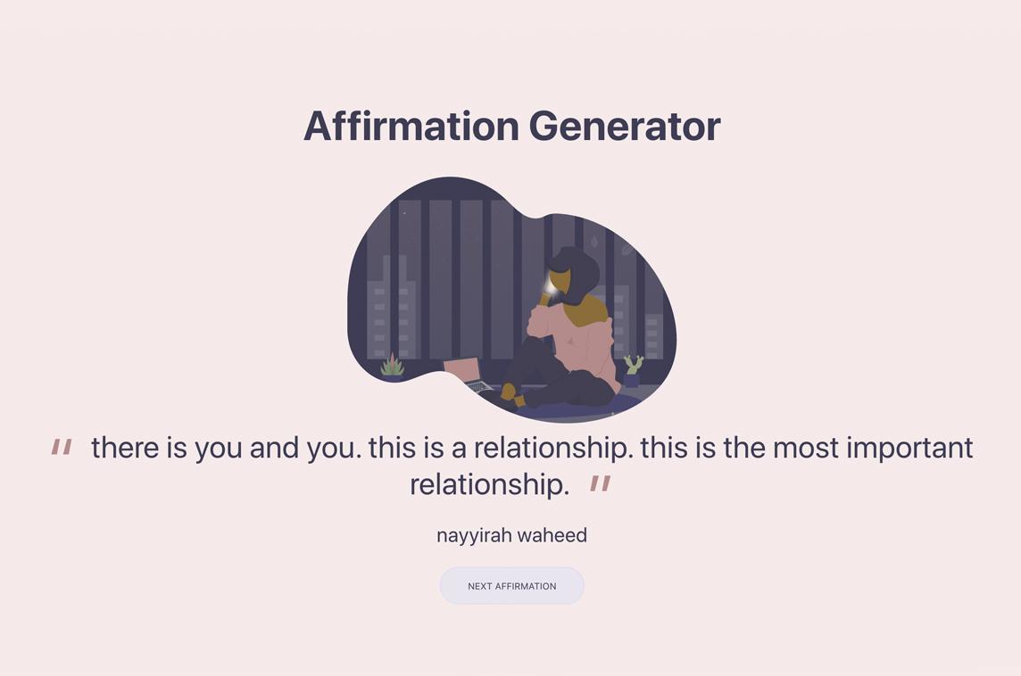 Affirmation Generator