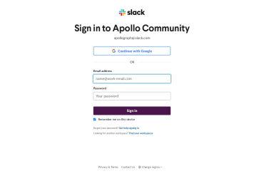 Apollo Slack