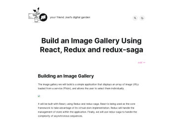 Build An Image Gallery Using React, Redux And Redux-saga
