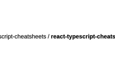 Cheatsheets For Experienced React Developers Getting Started With TypeScript