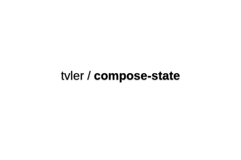 Compose-state - Compose Multiple SetState Or GetDerivedStateFromProps Updaters In React