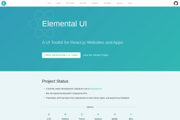 Elemental - A UI Toolkit For React.js Websites And Apps