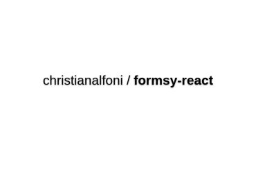 Formsy-react - A Form Input Builder And Validator For React JS