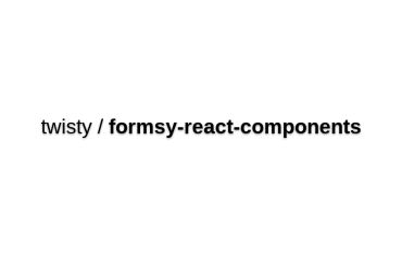 Formsy-react-components