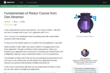 Fundamentals Of Redux Course From Dan Abramov
