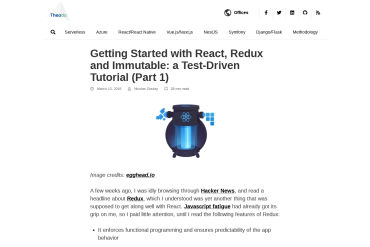 Getting Started With React, Redux And Immutable: A Test-Driven Tutorial: Part 1