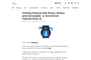 Getting Started With React, Redux And Immutable: A Test-Driven Tutorial: Part 2