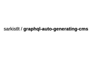 GraphQL CMS