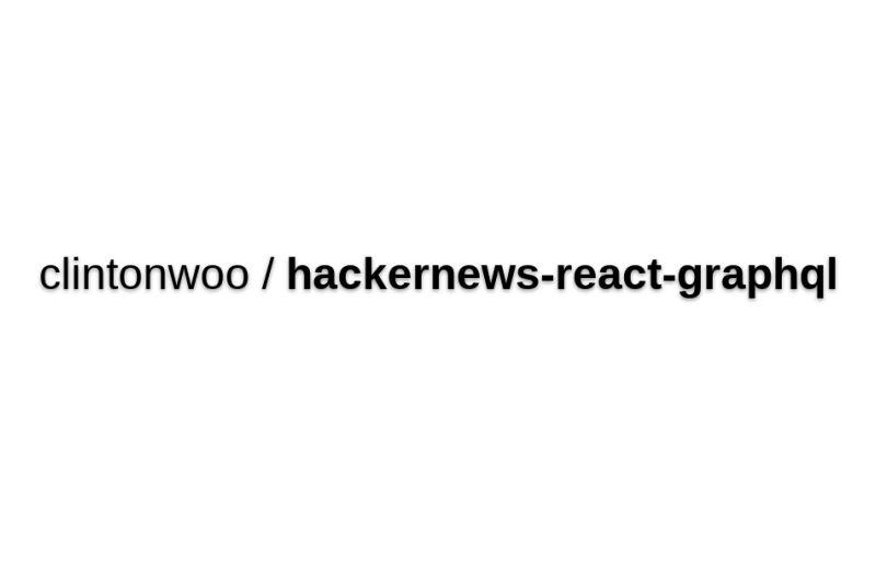 Hackernews-react-graphql