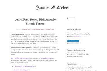 Learn Raw React: Ridiculously Simple Forms