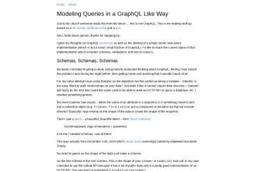 Modeling Queries In A GraphQL Like Way